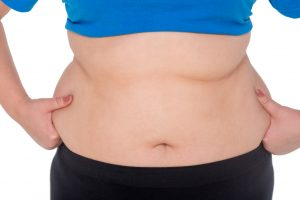 Fat woman belly